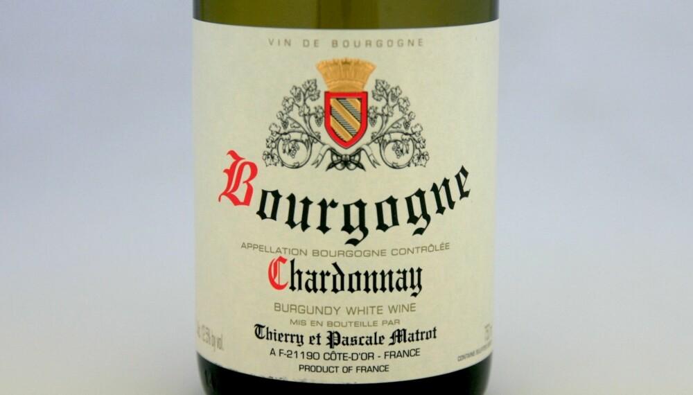KRABBEVIN: Matrot Bourgogne Chardonnay 2013.