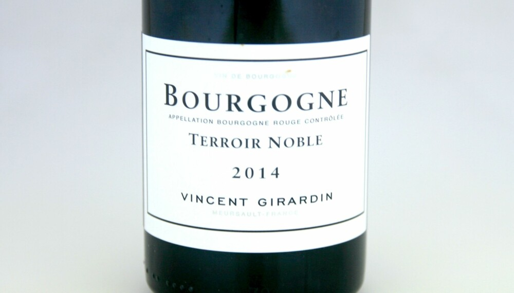 VIN TIL SOPP: Girardin Bourgogne Terroir Noble Pinot Noir 2014.