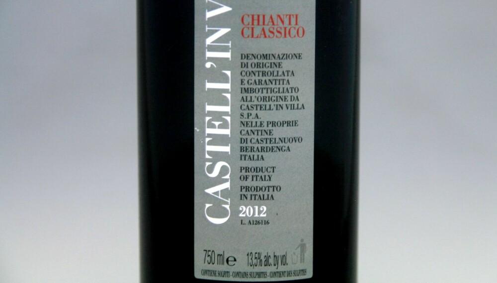 TIL LAM: Castell'in Villa Chianti Classico 2012.