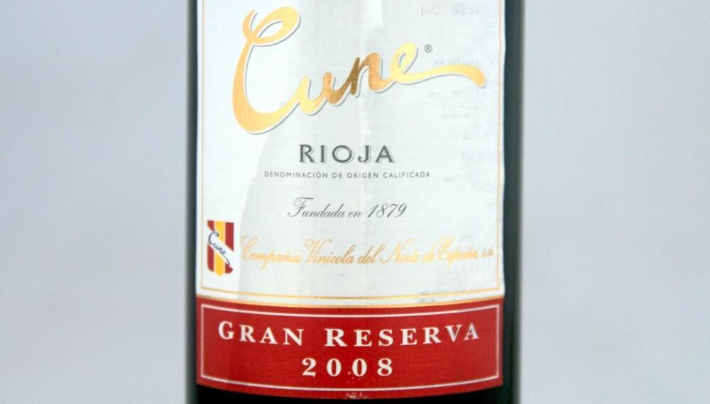 TIL VILT: Cune Rioja Gran Reserva 2008.