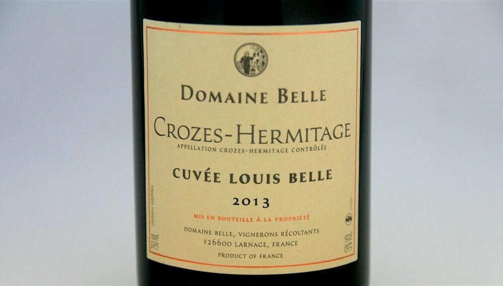TIL VILT: Crozes-Hermitage Cuvée Louis Belle 2013.