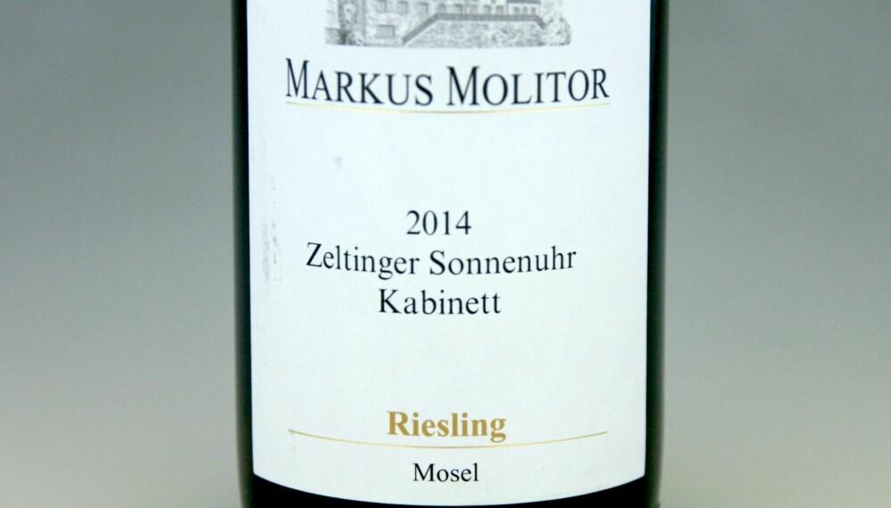 TIL PINNEKJØTT: Markus Molitor Zeltinger Sonnenuhr Riesling Kabinett 2014.