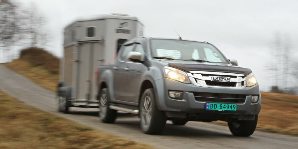 TREKKER TYNGST: Isuzu D-max trekker tyngst, 3,5 tonn.