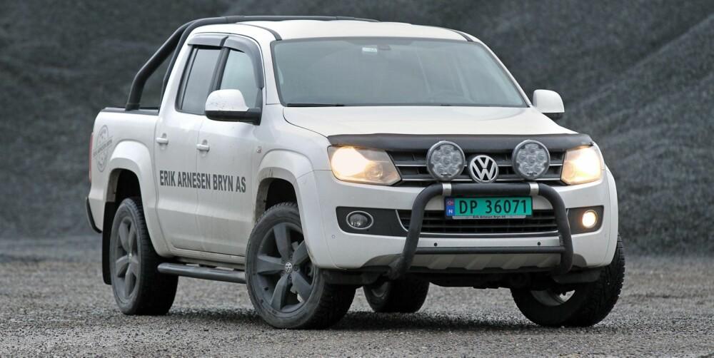 DYR: VW Amarok er mest moderne, men også dyrest.