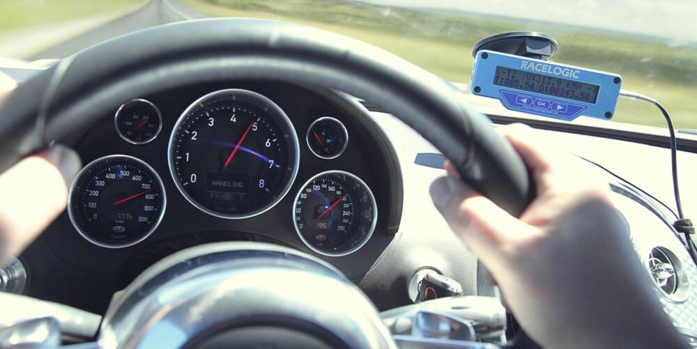 FARTSFØLELSE: Å kjøre Bugatti Veyron Grand Sport Vitesse får deg til å glemme alt du trodde du visste som fart.
