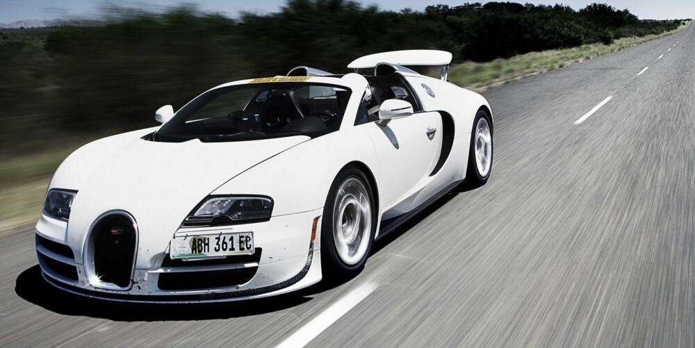 INGENIØRKUNST: Imponerende å få en bil uten tak til å kjøre i 410 km/t.
