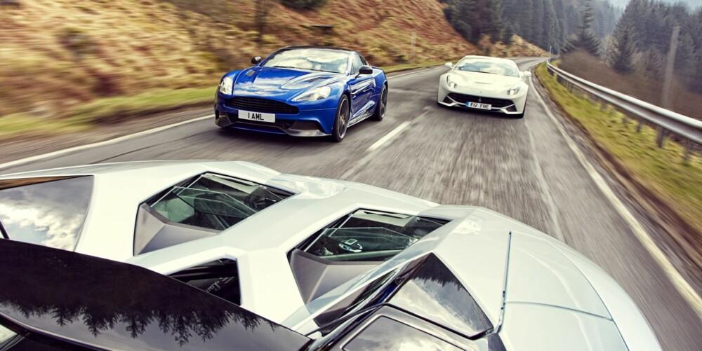 KNIVSKARP: Hekken på Lamborghini Aventador kan skjære kjøttpålegg i skiver.