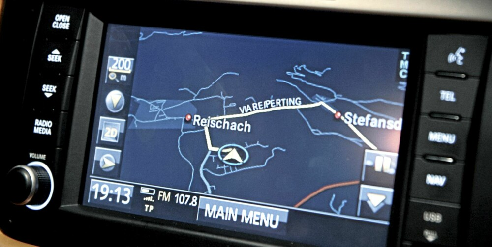 BRUKERVENNLIG: Navigasjonssystemet fungerer glimrende.