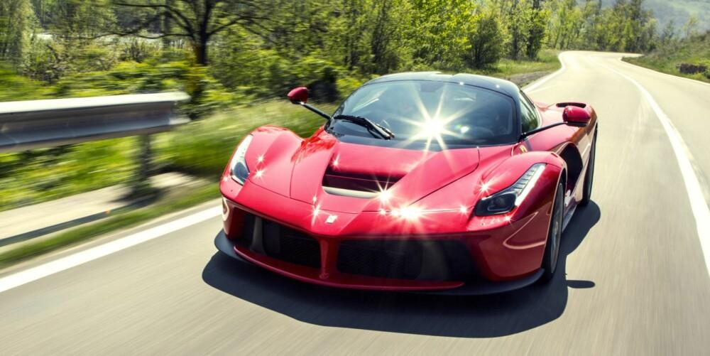 ÜBER-BIL: Den mest ekstreme ytelsen oppnådd av en serieprodusert Ferrari.