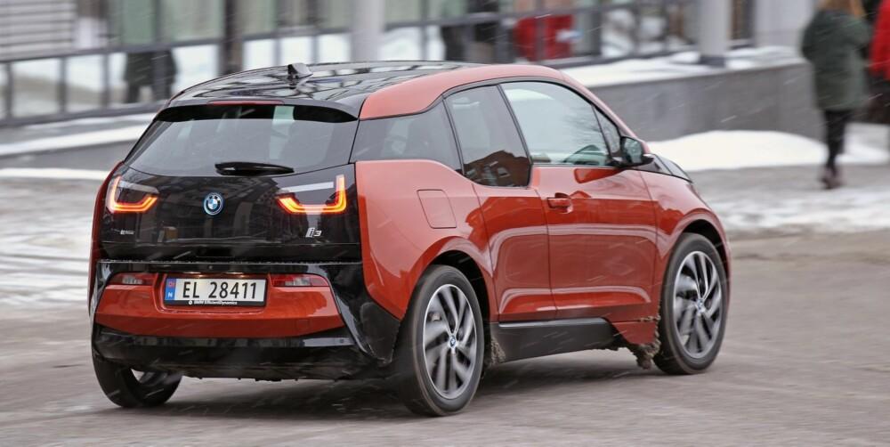 SER KUL UT: BMW i3 ser akkurat så moderne og fremmedartet ut som den bør gjøre.