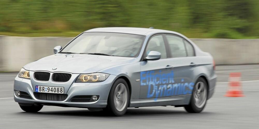 KJØRER BRA: 3-serie kan skilte med klassen beste kjøreegenskaper.