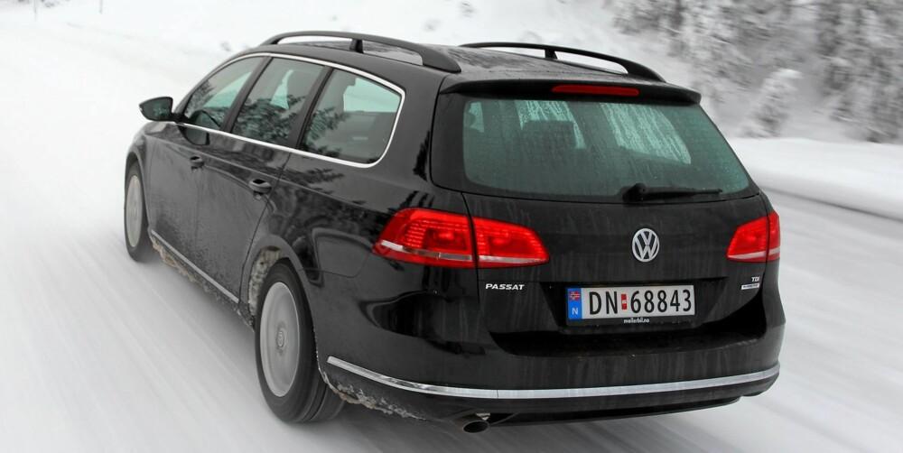 I MINSTE LAGET: Med 1,6-liters dieselmotor har ikke VW Passat mer krefter enn du trenger.