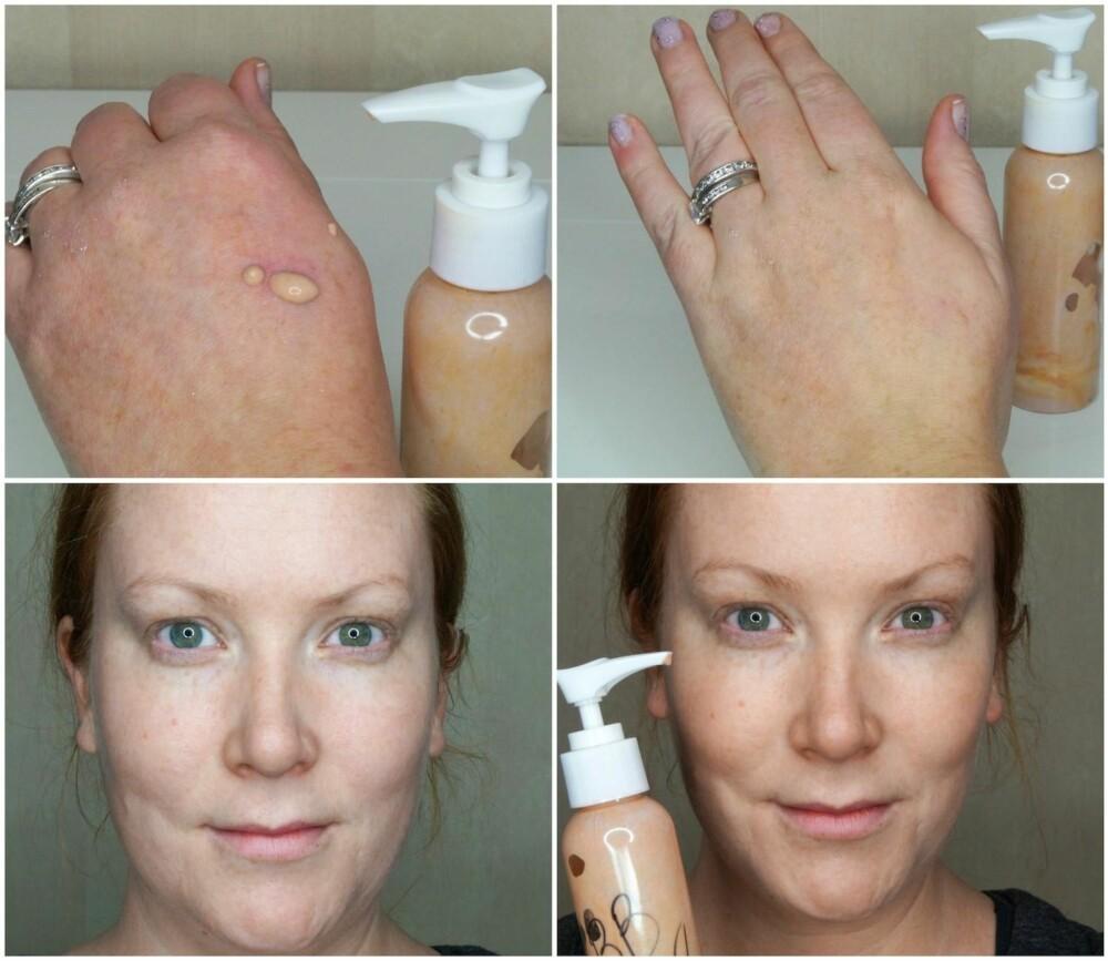 RESULTAT: Den hjemmelagde BB creamen får en naturlig og frisk finish, som ikke virker tørr på huden eller smitter av i løpet av dagen.