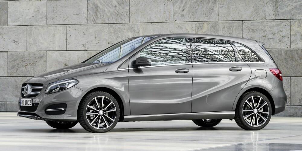 FACELIFT: Mercedes-Benz B-klasse ble lansert i en oppgradert versjon i oktober 2014. FOTO: Daimler AG