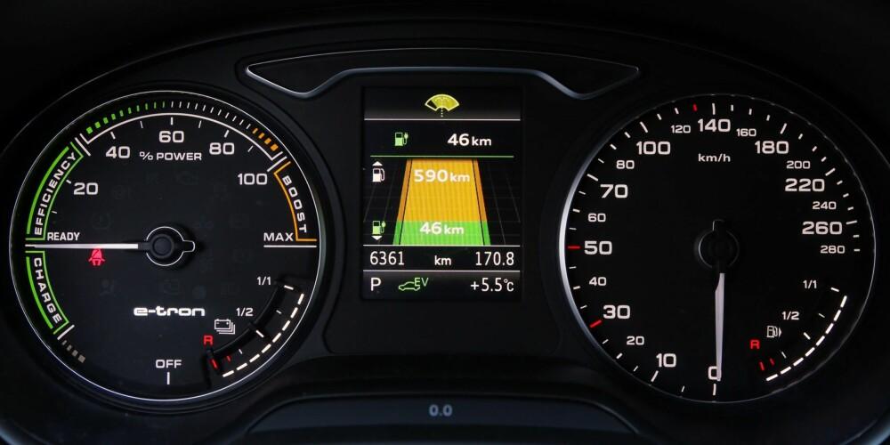 Rekkevidde: Indikatoren for elektrisk rekkevidde er en smule optimistisk under norske vinterforhold.