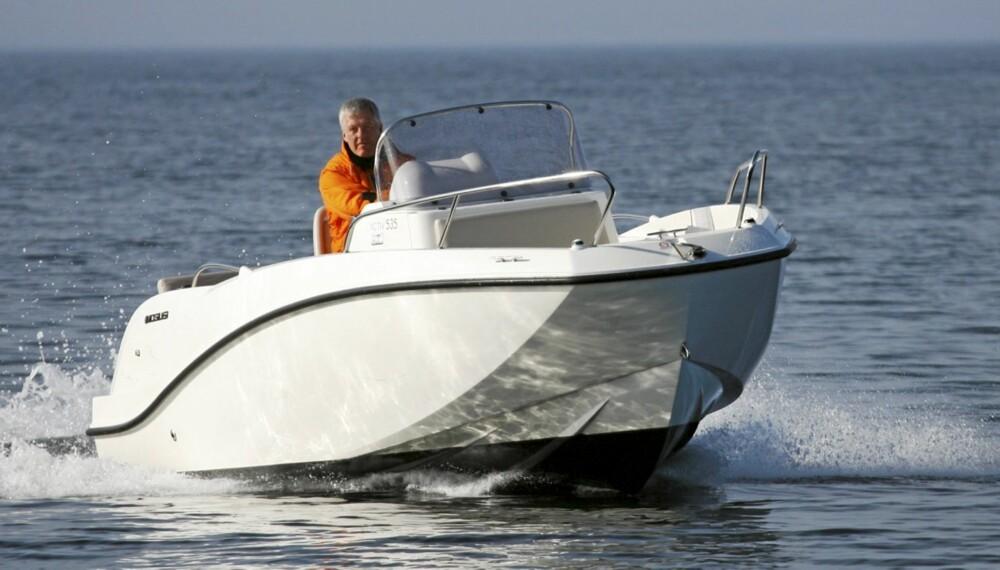 UVANLIG: Utformingen av baugen gir god plass og går i liten grad utover egenskapene i sjøen.