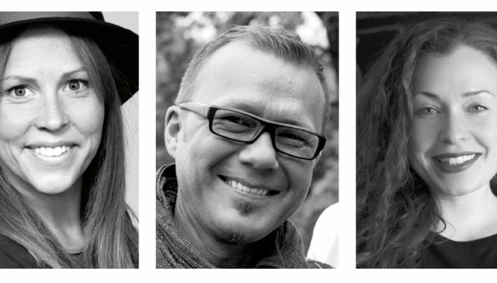EKSPERTENE: Bonytthjelpen representert ved interiørarkitektene Ida Lundqvist, Bernt Pedersen og Cecilie Clausen.