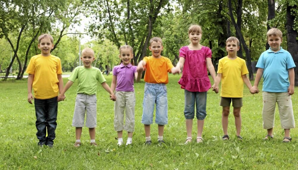 ULIKE: Barnas høyde avhenger i stor grad av hvor høye foreldrene er.