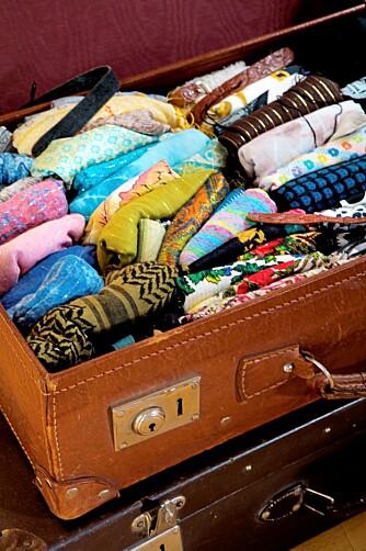 Oppbevaring i en koffert.
