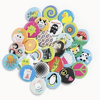 BUTTONS: Buttons fra Tolv.no, kr 20 per stk/kr 100 for seks stk.