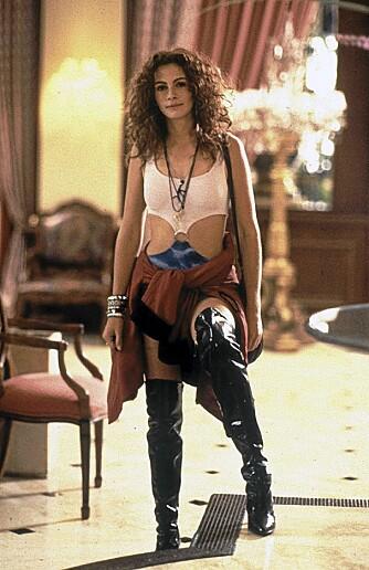 PRETTY WOMAN: Julia Roberts i skyhøye støvletter.