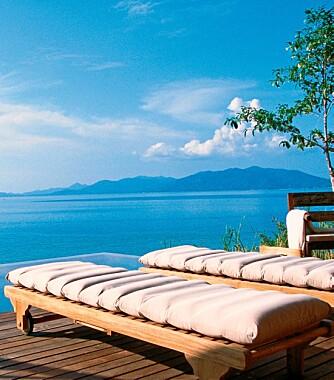 FANTASTISK UTSIKT: Det oser av luksus på Six Senses Hideaway Samui i Thailand.