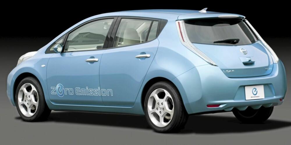SPREKE LINJER: Design er etter hvert anerkjent som viktig også for introduksjon av elbiler. Leaf har både klassiske kompaktklassetrekk og stilelementer som skiller seg ut.