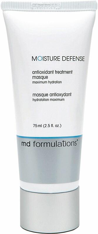 MASKE: En fuktighetsmaske gjør godt for både tørr og dehydrert hud. Denne er fra MD Formulations og koster kr 398.