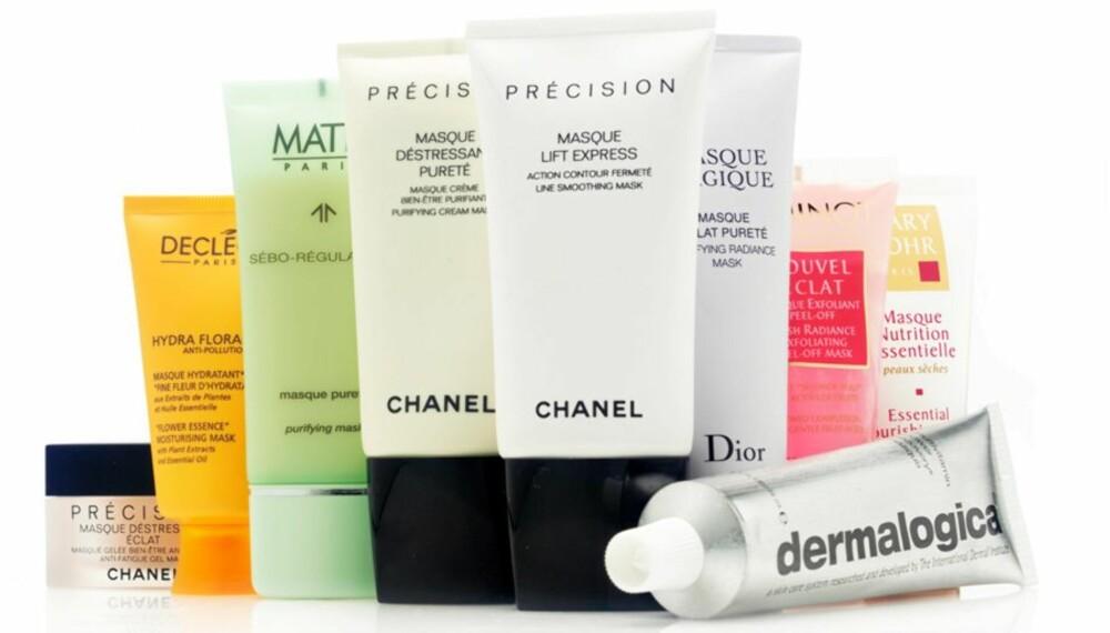 MASKER DEG: Gode ansiktsmasker kan hjelpe på tørr og dehydrert hud.