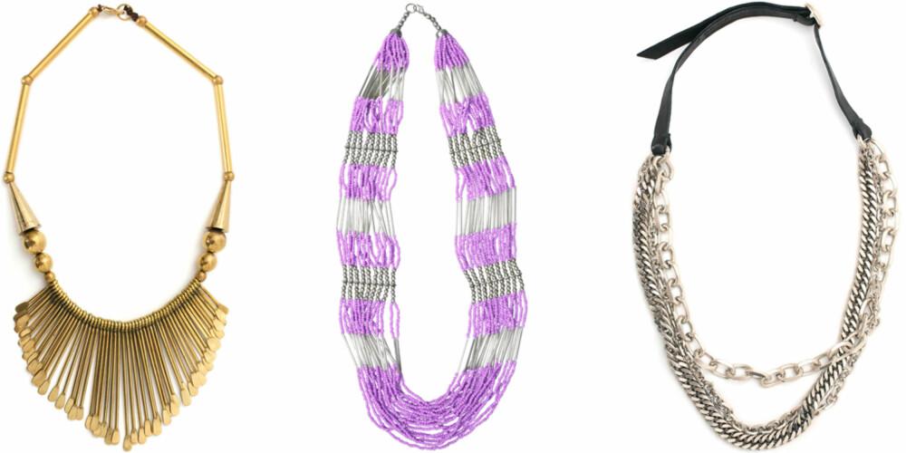 FRA VENSTRE: Nelly Accessories (kr 149), Cubus (kr 99), J Dauphin (kr 2499).