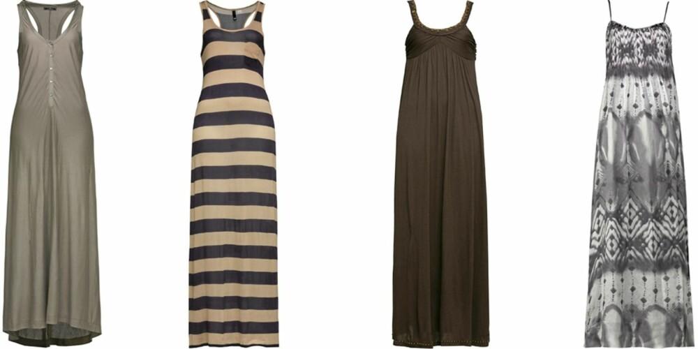 FRA VENSTRE: Malene Birger (kr 1599), H&M (kr 99), Pepe Jeans (kr 999), Style Butler (kr 555).