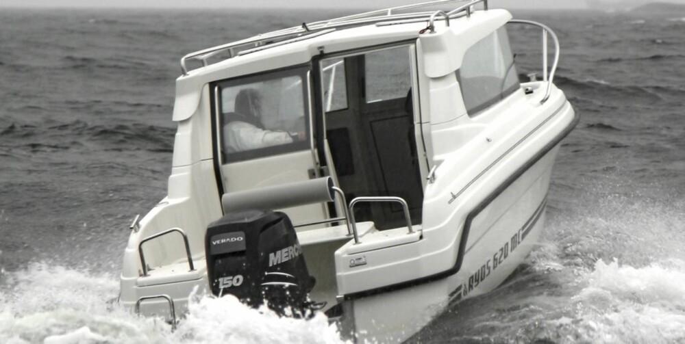 Ryds 620 MC fikk vist seg frem i krevende sjø.