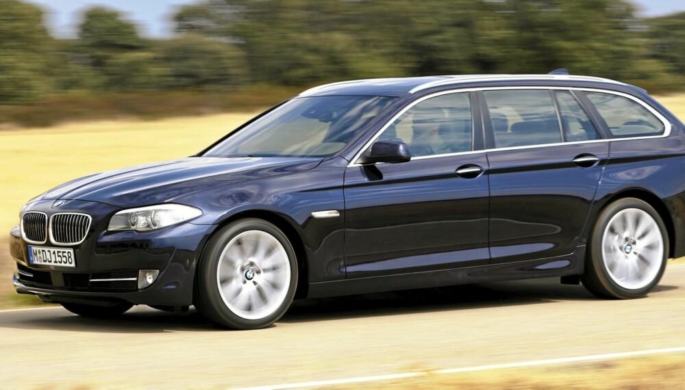 VERDENS BESTE?: Nye BMW 5-serie er en fantastisk bil. Den er rett og slett målestokken i klassen.