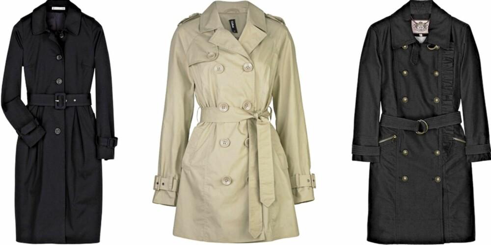 FRA VENSTRE: Paul & Joe Sister (kr2240), Cubus (kr 499), Juicy Couture (kr 3332).