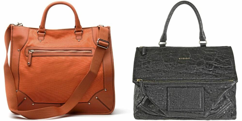 FRA VENSTRE: Mango (kr 599), Givenchy (kr 11.400).