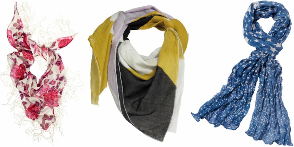 FRA VENSTRE: Indiska (kr 79,50), Vero Moda (kr 150), La Redoute (kr 199).