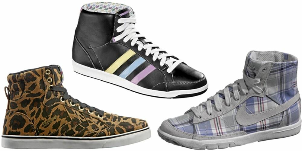 FRA VENSTRE: Hummel for Bianco (kr 900), Adidas (kr 899), Nike (kr 999).
