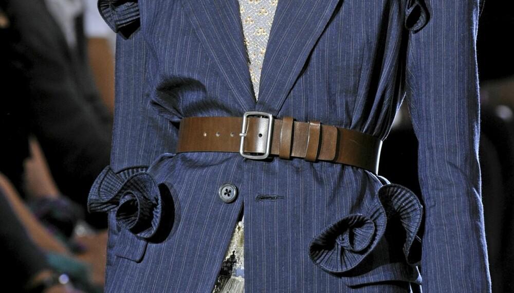 MIDJE: Bruk et belte i livet for å få en definert midje.