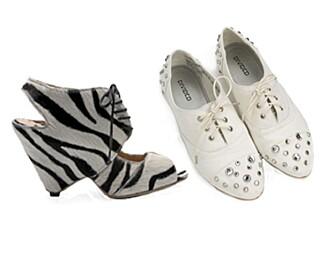 Platåsko fra Mango, kr 999. Flate sko fra H&M, kr 179.