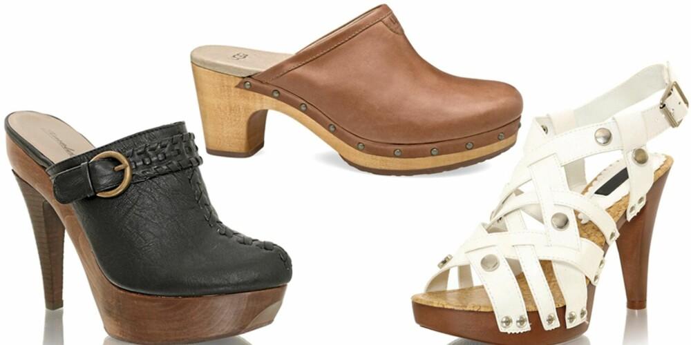 FRA VENSTRE: Timeless (kr 599), Ugg (kr 1600), Nelly Shoes (kr 199).