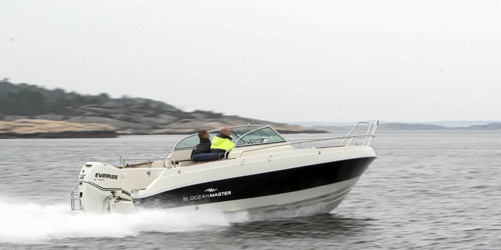 FULL PAKKE: Med full pakke slik som testbåten, havner man på en prislapp på rundt 500 000 kroner.