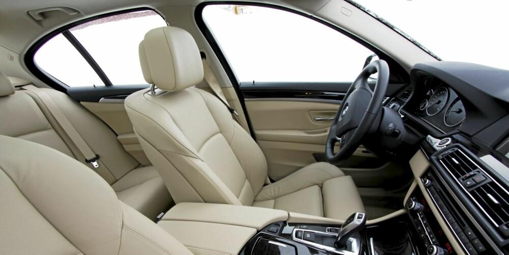 DEILIG: Alt ved 530d er herlig; førermiljøet, drivlinjen, kjøreegenskapene... Men prisen, den er ikke like trivelig.