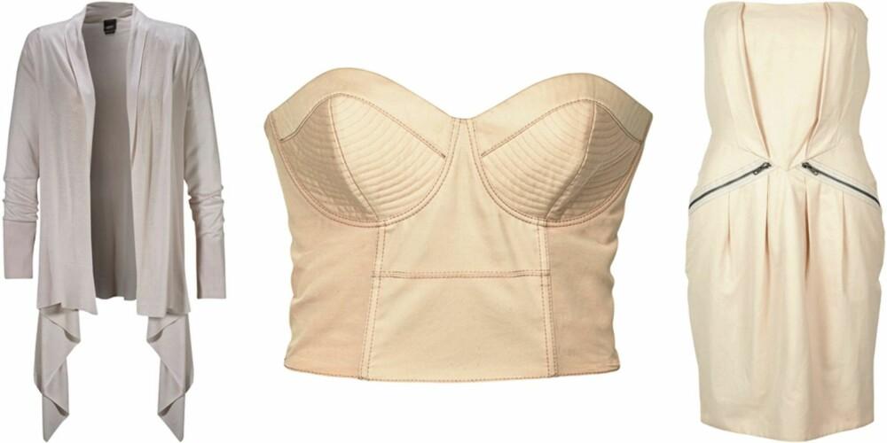 FRA VENSTRE: Esprit Collcetion (kr 599), H&M (kr 299), Selected Femme (kr 499).