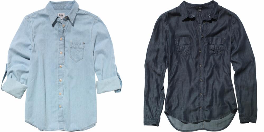 FRA VENSTRE: Lee jeans (kr 699), Mexx (kr 599).