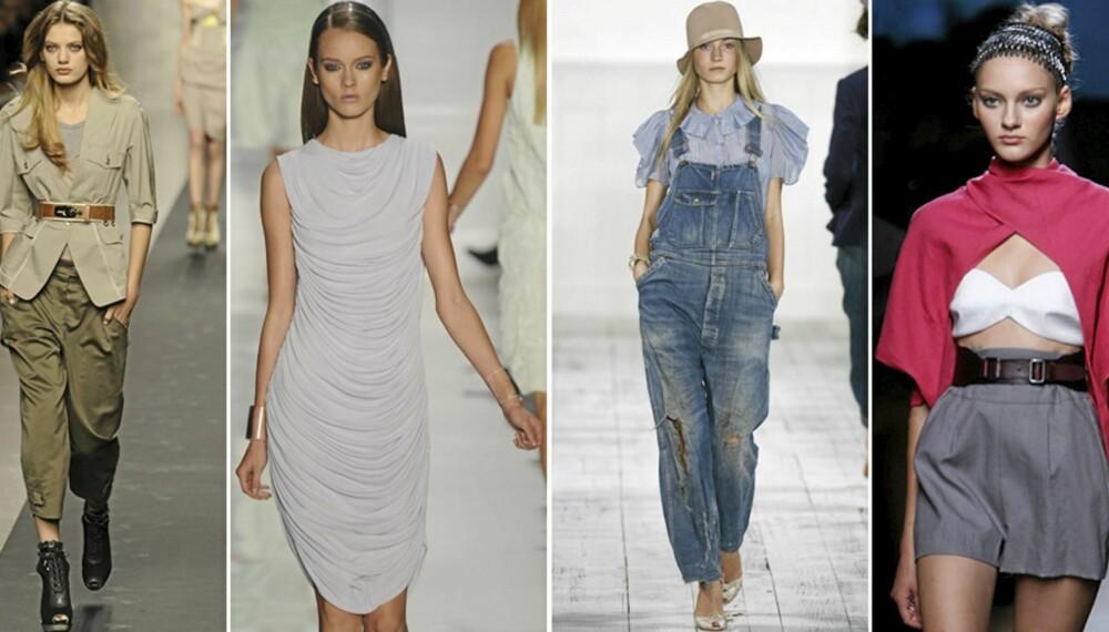 STJEL STILEN: Kopier fire trendy stiler fra catwalken.