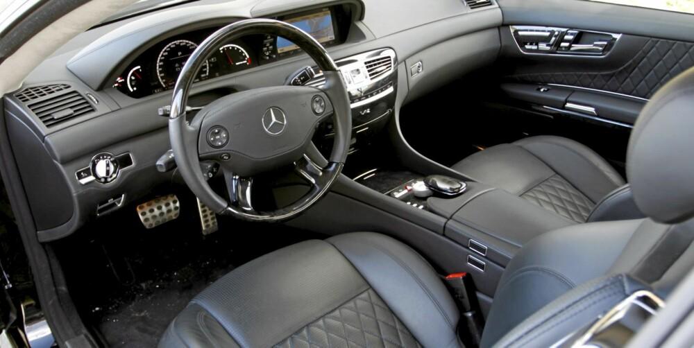 Maks komfort: Det er få steder på denne jord man koser seg mer enn bak rattet i en CL 65 AMG. Man sitter som en konge, og har krefter nok til halve kongeriket.
