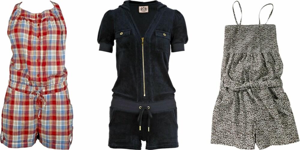 FRA VENSTRE: Only (kr 240), Juicy Couture (kr 1267), Gina Tricot (kr 149).
