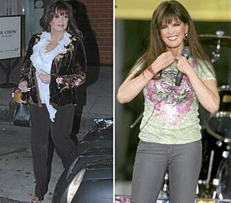 FØR OG ETTER: Marie Osmond før og etter hun bestemte seg for å leve sunt.
