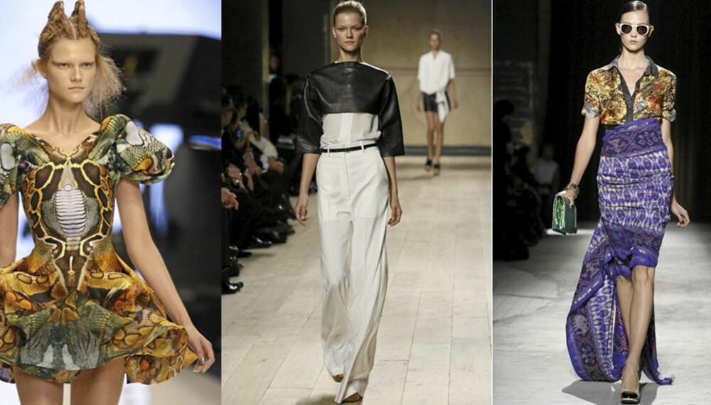 CATWALKSTIL: Kopier sommerens looks fra Alexander McQueen, Celine og Dries van Noten.