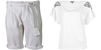 HVITT: Kle deg i en av sesongens heteste farger: hvitt.